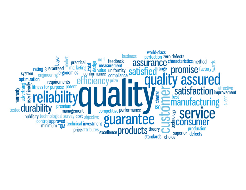 """QUALITY"" Tag Cloud (reliability customer satisfaction service)"